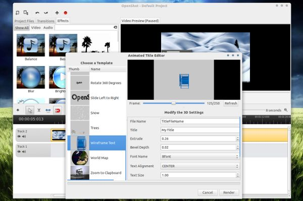 OpenShot Editor de Video para Linux