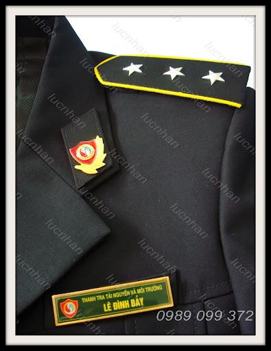 đồng phục, đồng phục Lục Nhân, lucnhan , lucnhanfashion, thoitrang lucnhan, thiết kế, thiết kế thời trang, thanh tra bộ Tài Nguyên và Môi Trường, phù hiệu, cấp hiệu , tiết hiệu, biển hiệu, mũ kê-pi, khuy áo