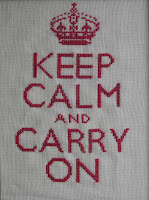 Keep calm en punto de cruz/cross stitch Keep calm