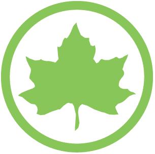 Maple Leaf inside circle