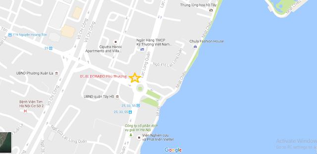 Vị trí siêu đẹp của dự án chung cư Deldorado Phú Thượng.