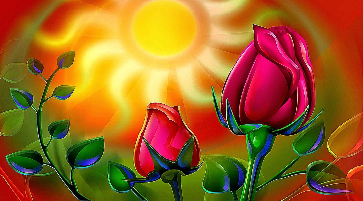 3d rose flower wallpaper | wallpaper background gallery