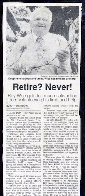 Roy Wise Newspaper