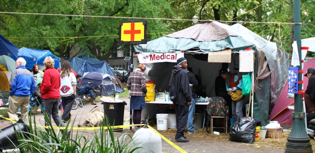 occupy portland medical tent