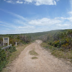 Trail with signage on Pinney's Headland in Wallarah Pennisula (388376)