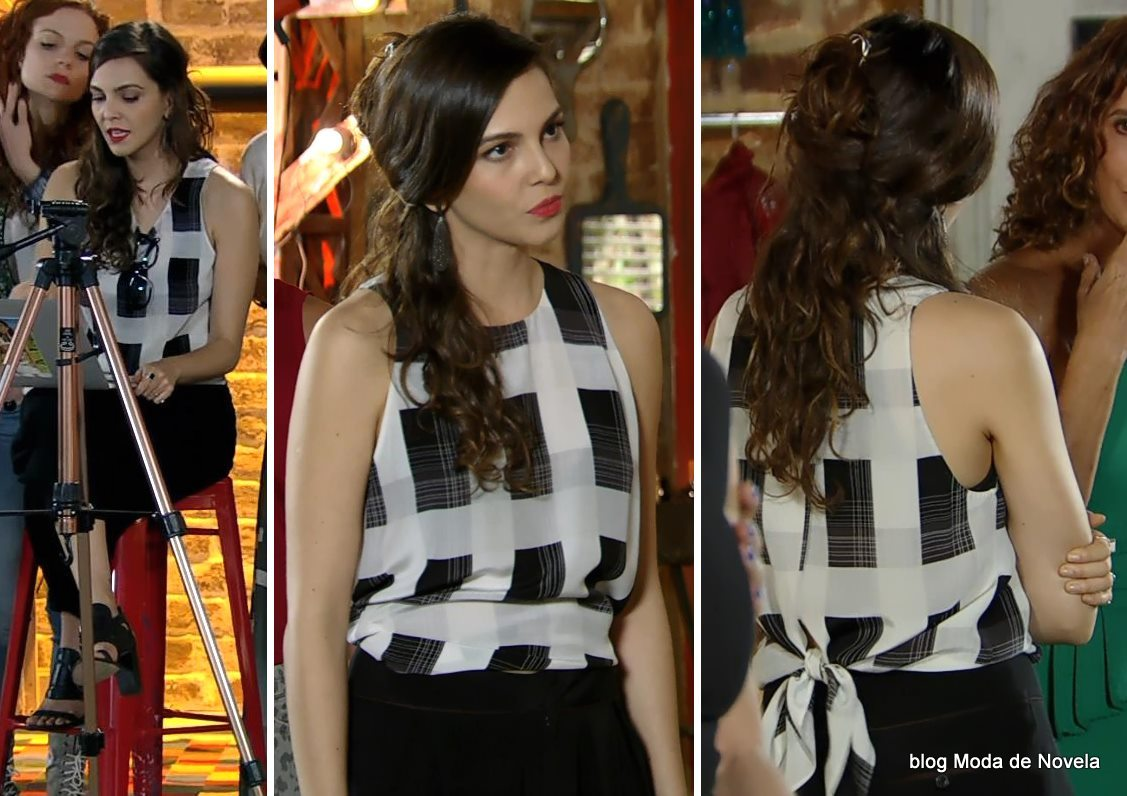 moda da novela Em Família - look da Marina no dia 19 de abril