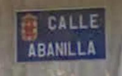 Placa Calle Abanilla en Murcia