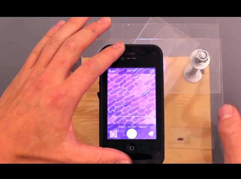 microscopio digital con el móvil