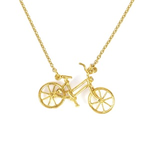 Alex Monroe bicycle necklace