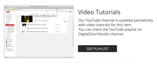 Video Player with Playlist - Cornerstone WP AddOn /w WooCommerce - 8