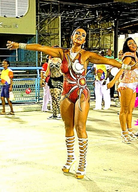 Full Body Painting Conquered Brazilian Carnival Body Art Gains