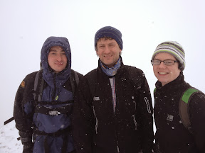 Jon, Loz and Jason on Snowdon