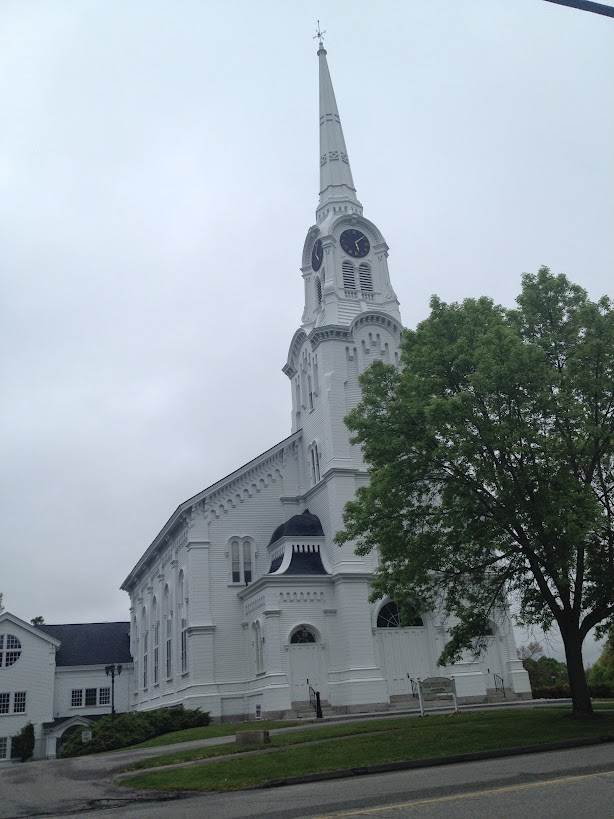 New England white church
