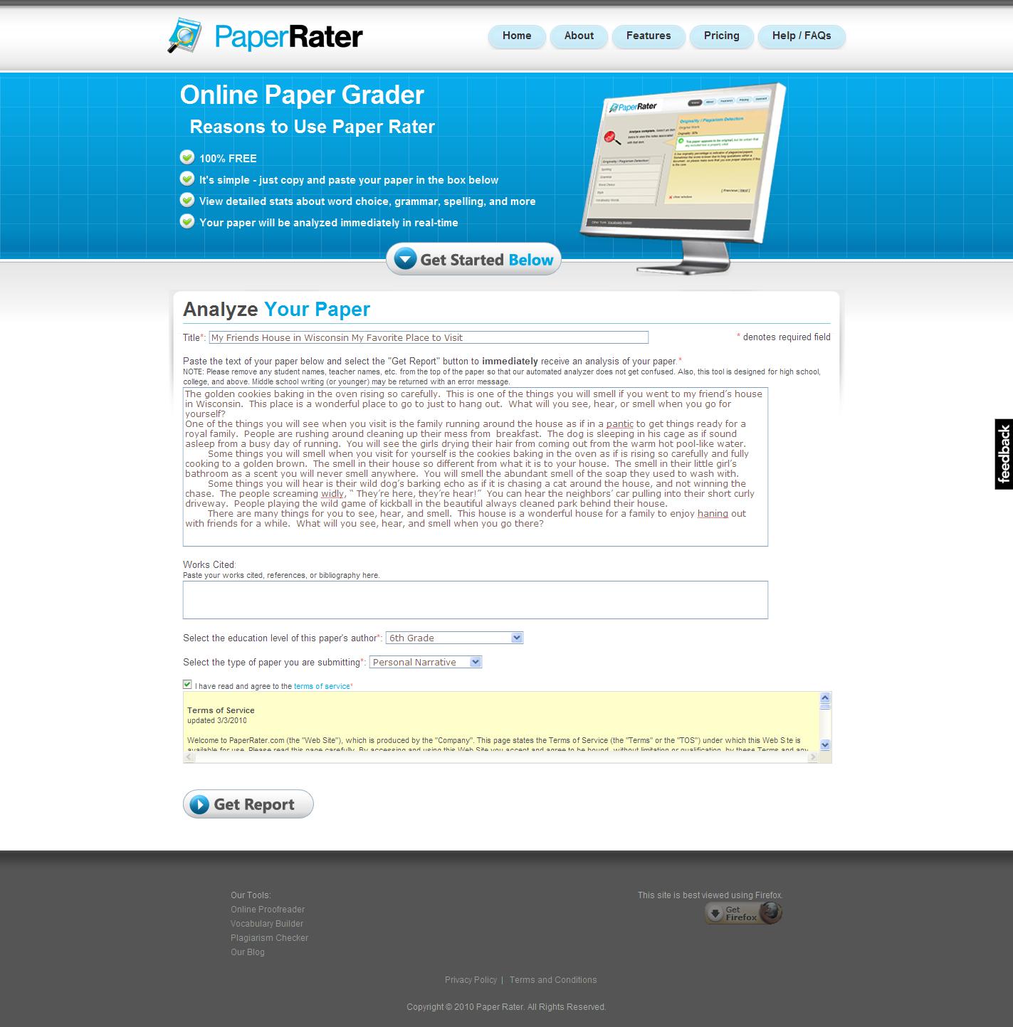 Viper essay checker