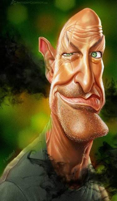 Терри О'Куинн - Джон Локк - 18 юмористических карикатур на знаменитостей из 15 известных кинолент