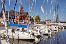 J/80s in harbor at Sandhamn Open Regatta hosted by KSSS
