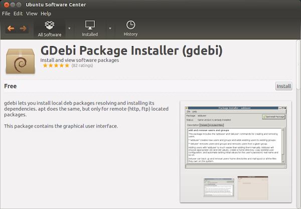 инсталация на GDebi през Ubuntu Software Center