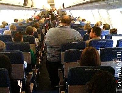 Летим в самолете стоя