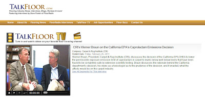 CRI's Werner Braun on CA's Proposed Caprolactam Limits: TalkFloor TV