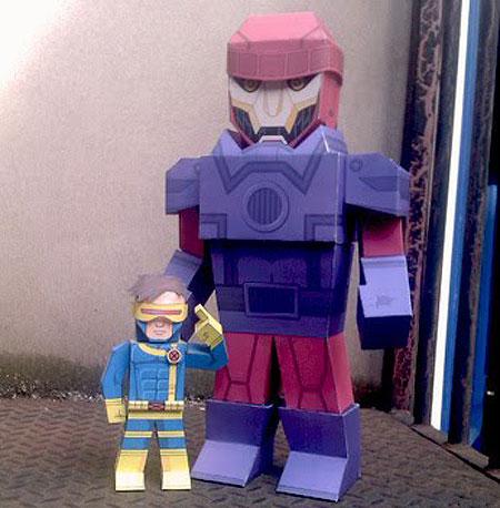 XMen Sentinel Paper Toy