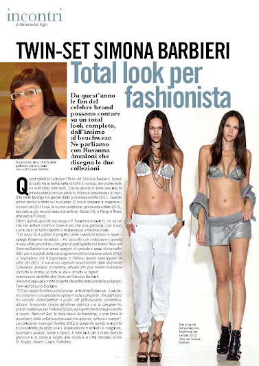 Twint-Set, advertorial primavera verano 2012