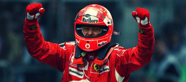 Michael Schumacher celebra su última victoria en China 2006