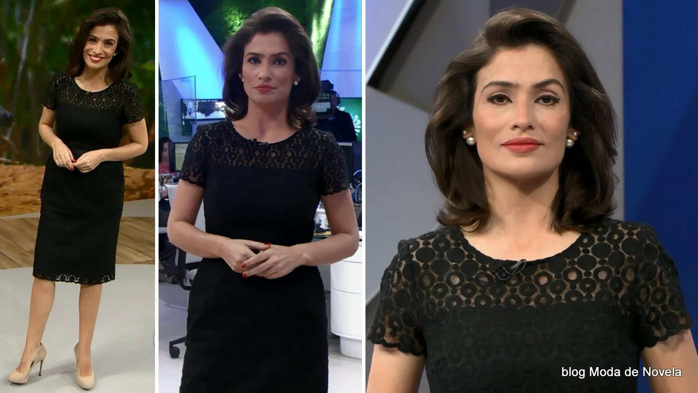 moda do programa Fantástico - look da Renata Vasconcellos