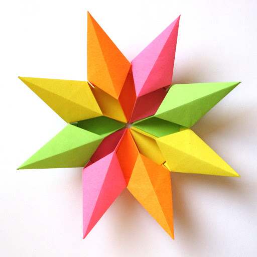 Origami modular foto Stella diamante 2 - Diamond Star 2 by Francesco Guarnieri