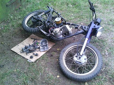собрать Кроссовый Мотоцикл #10