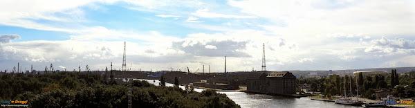 Widok z wieży Twierdzy Wisłoujście w Gdańsku