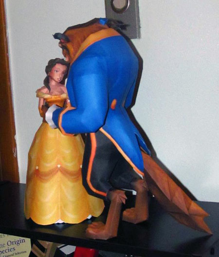 Beauty and the Beast Papercraft