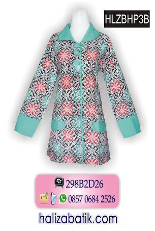 HLZBHP3B Model Blus, Baju Batik, Baju Blus, HLZBHP3B