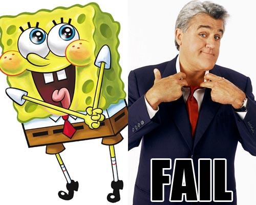 spongebob jay leno fail