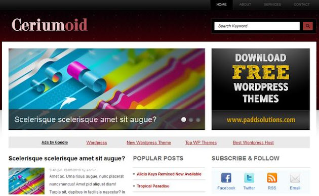 Ceriumoid WordPress Theme