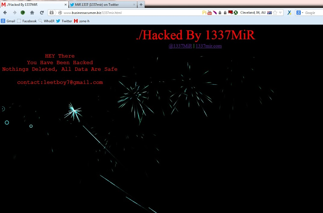 businessacumen.biz australian magazine website hacked by 1337mir