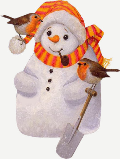 BarbaraMitchell~Snowman&Birds~LM.jpg