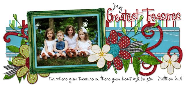 My Greatest Treasures Blog Design