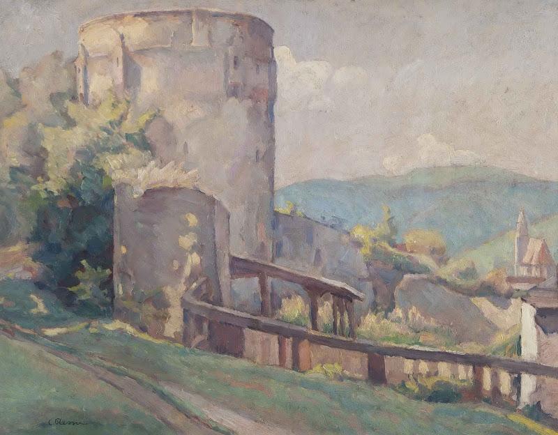 Camil Ressu - Peisaj cu Cetatea Braşovului