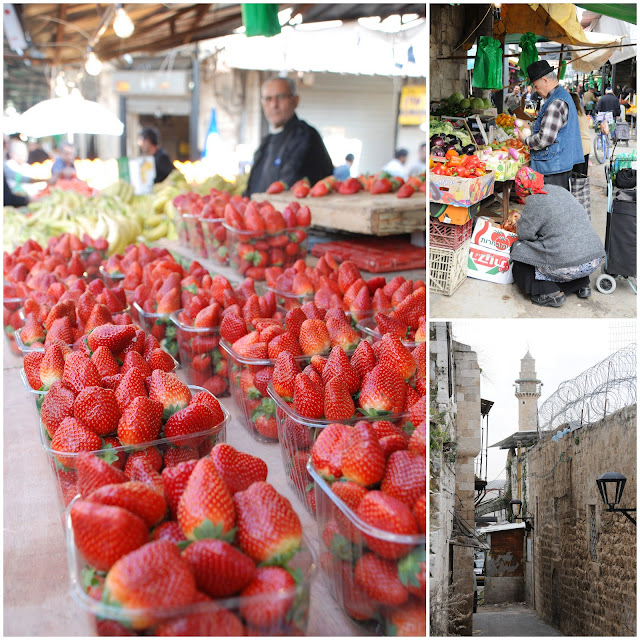 strawberries in ramle market, Israel
