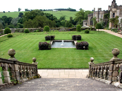 Haddon Hall gardens in the Derbyshire