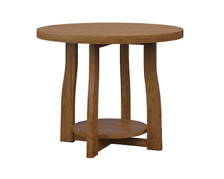 Round Brewster End Table in Como Maple