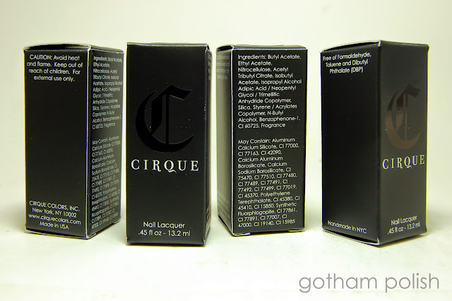 Cirque Arcus Collection packaging