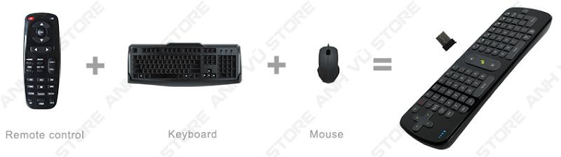 Measy RC11 Bàn phím chuột bay không dây cho Android TV Box 07