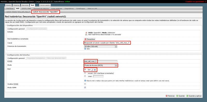 Tutorial] Modo Cliente/Repetidor/WDS con OpenWrt