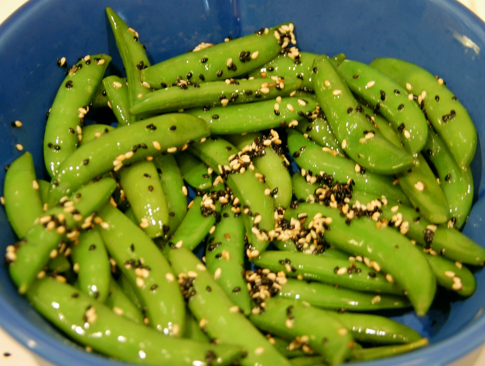 Southern Lady's Recipes: Sesame Sugar Snap Peas