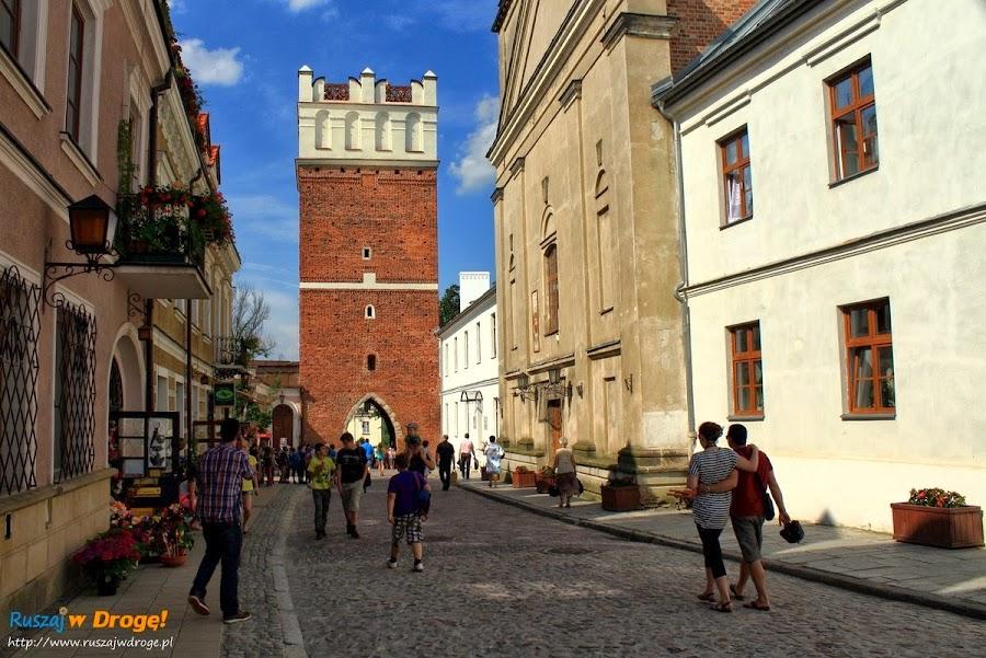 Sandomierz nad Wisłą - ulice na rynku