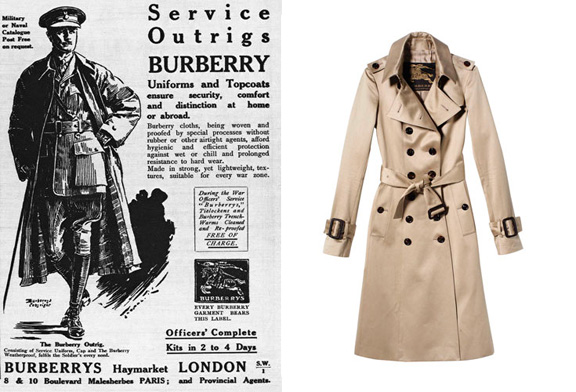 Resenhando...: Fato de Moda: O trench coat foi inventado para os soldados.
