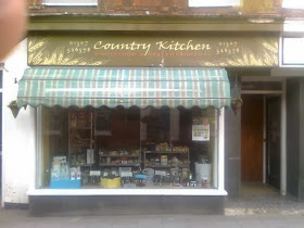 Shop frontage with canopy