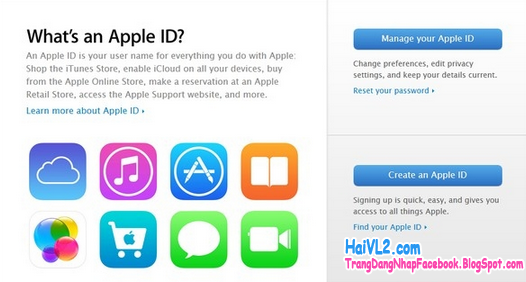 tạo tài khoản apple id