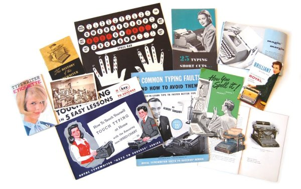 uppercase magazine typewriter project collage
